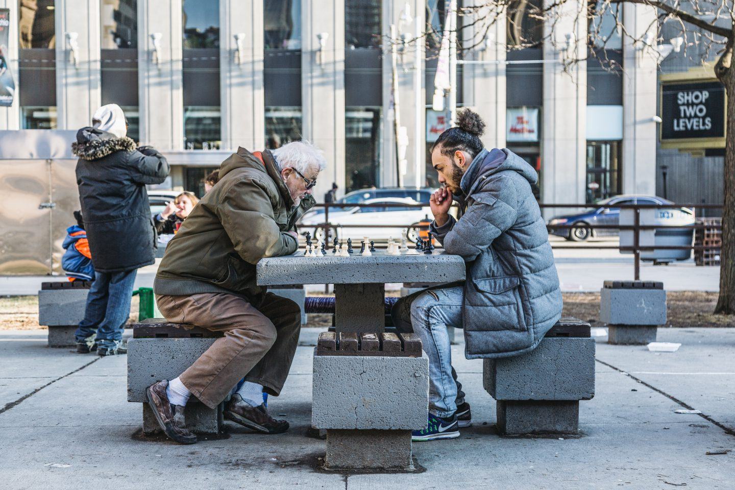Play Chess with Strangers