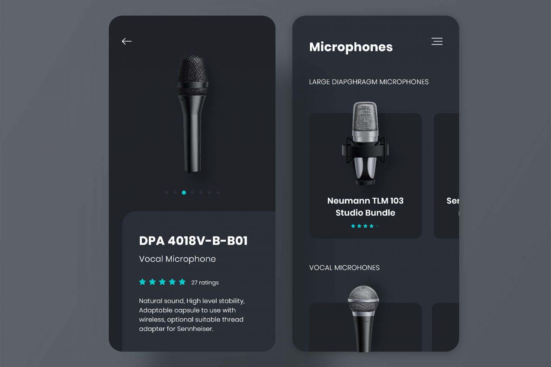 Microphones App Template