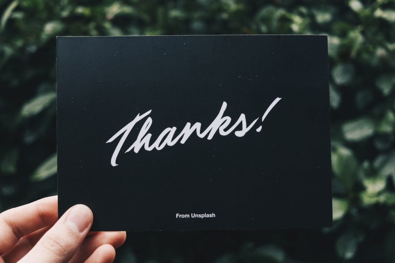 Thanks from Unsplash