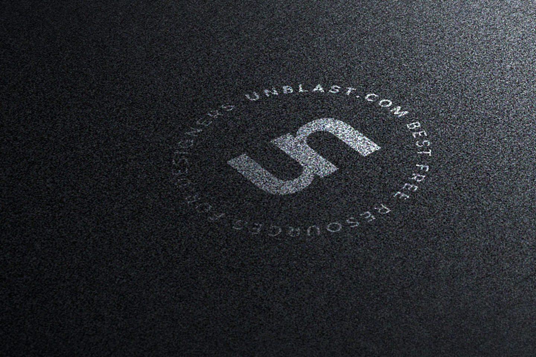 Silver on Black Background Logo