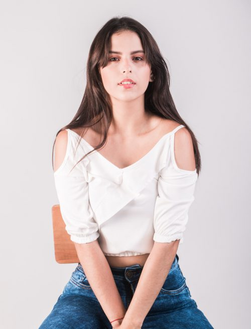 Shoulderless White Top