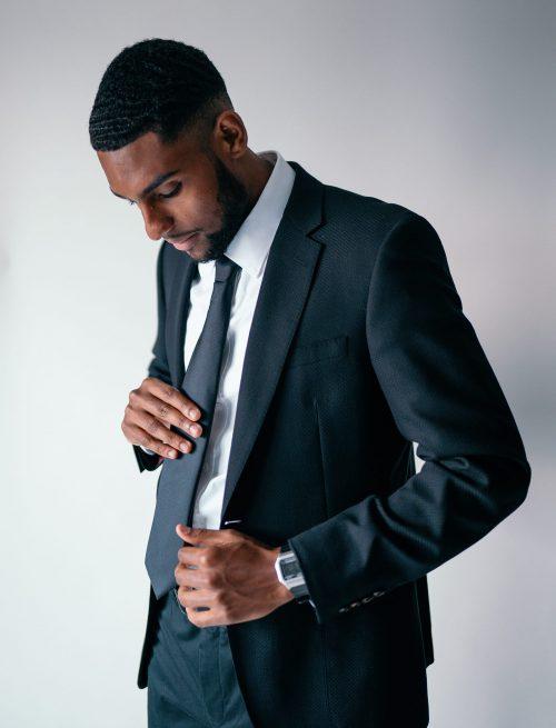 Black Tailored Suit